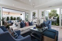 Cape Cod California Beach House with Blue and White ...