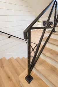 Modern Farmhouse Stair Railing. Awesome Modern Stone ...