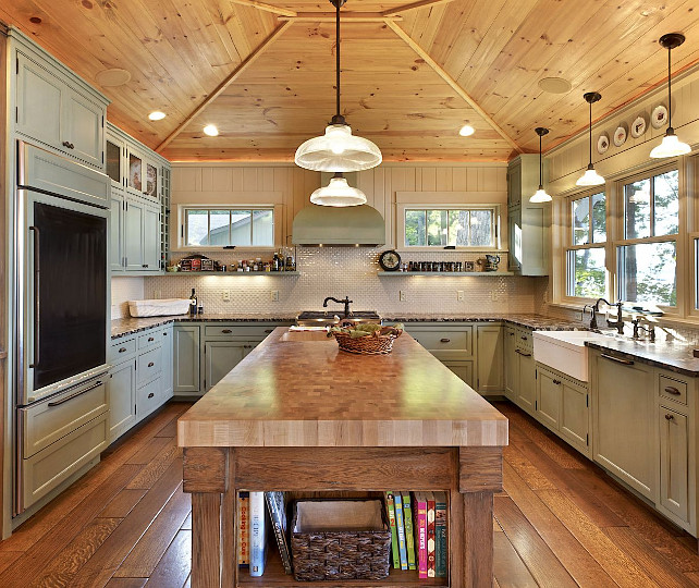 Lake Cottage - Home Bunch u2013 Interior Design Ideas - lake house kitchen ideas
