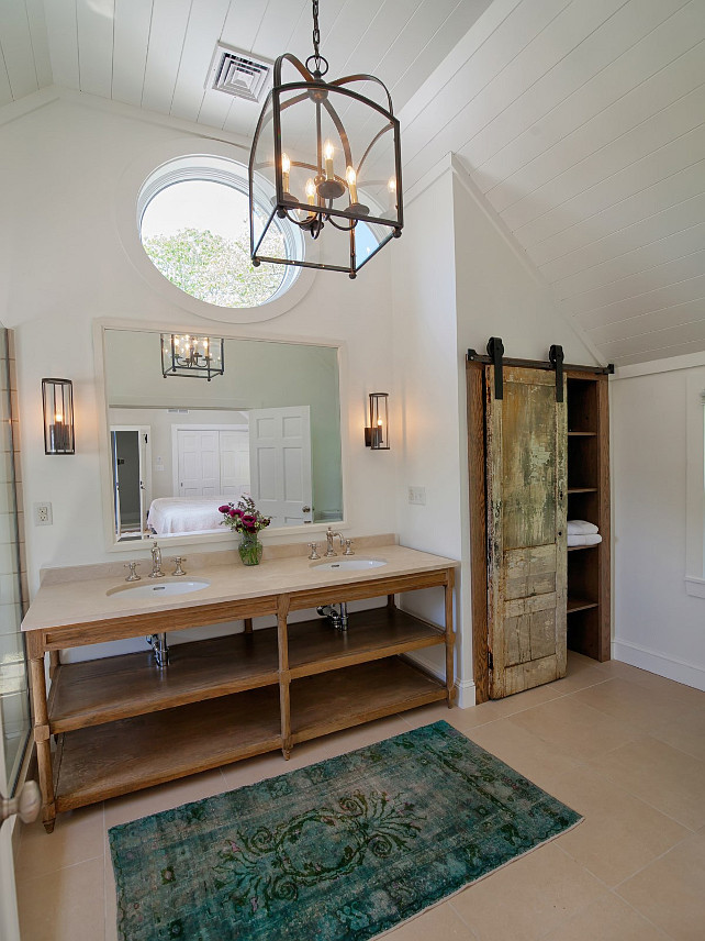 Southern Home with Neutral Interiors - Home Bunch u2013 Interior - rustic bathroom lighting ideas