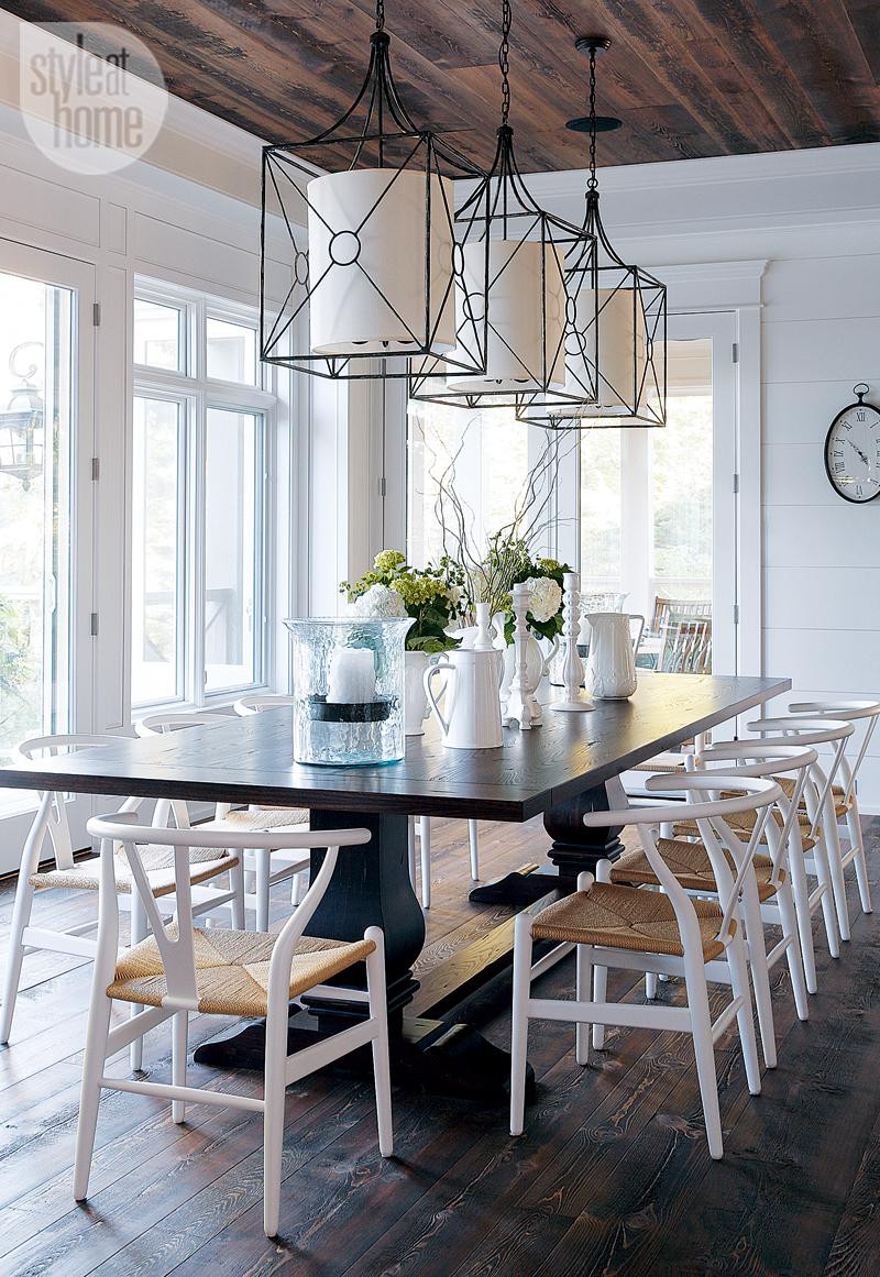 Dining room cottage dining room rustic cottage dining room with iron pendant lights