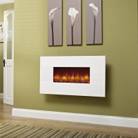 Essential Fireplaces Deluxe 36 Inch Wall Mounted Electric ...