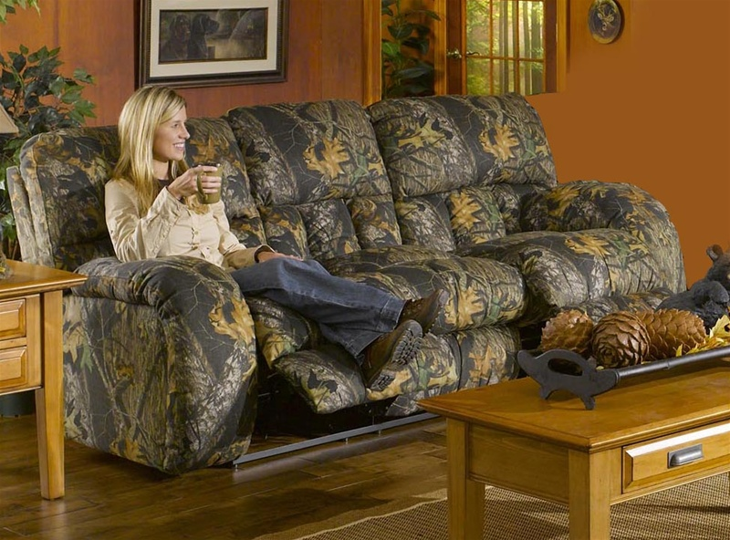 Lodge Manual Reclining Sofa in Camouflage Cover by Catnapper - 3781 - camo living room furniture
