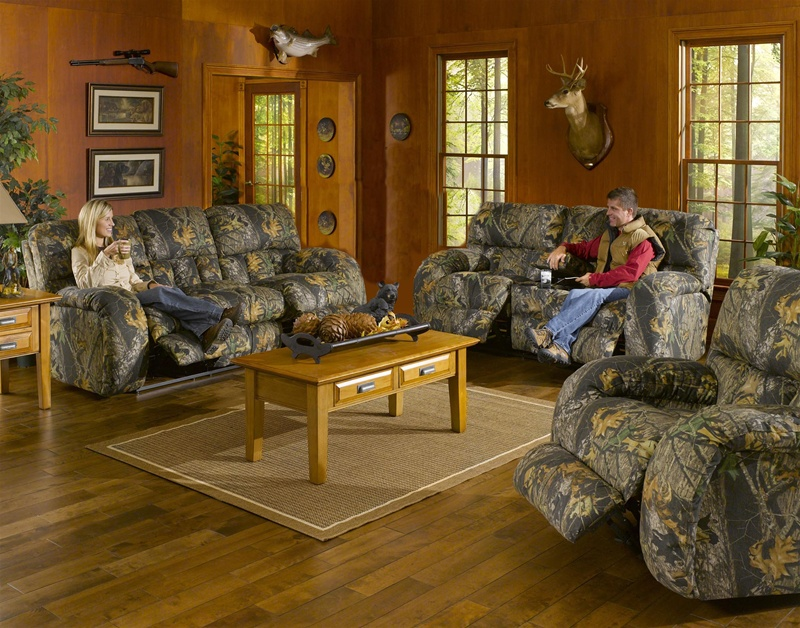 Lodge 2 Piece Manual Recline Sofa Set in Camouflage Cover by - camo living room furniture