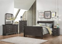 Hershel 6 Piece Bedroom Set in Dark Grey Finish by Coaster ...