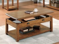 Lift Top Coffee Table in Oak Finish by Coaster - 701188