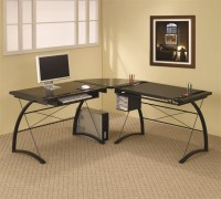 L-Shape Charting Computer Desk by Coaster - 800451