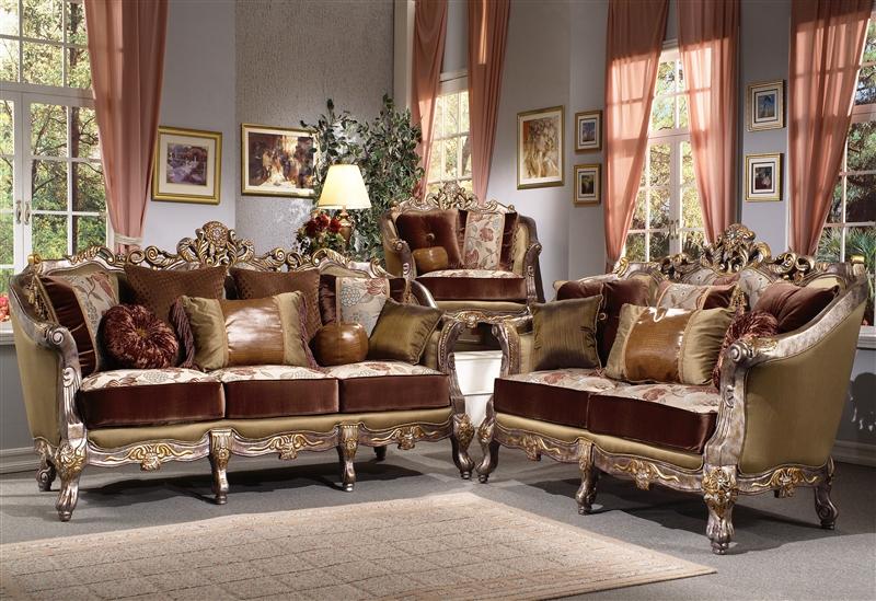 Ocana Silver 2 Piece Living Room Set by Homey Design HD-9668 - silver living room furniture