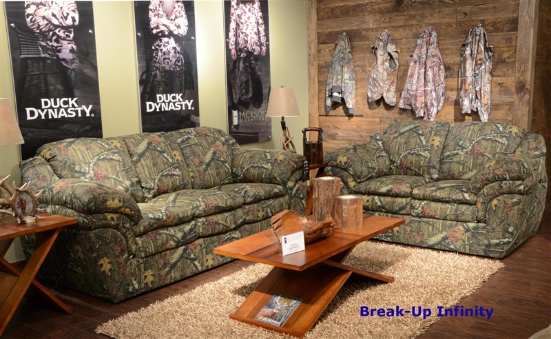 Huntley Loveseat in Mossy Oak or Realtree Camouflage Fabric by - camo living room furniture