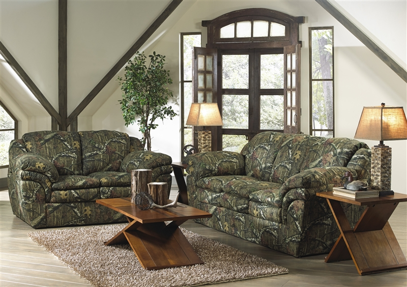 Huntley Sofa in Mossy Oak or Realtree Camouflage Fabric by Jackson - camo living room furniture
