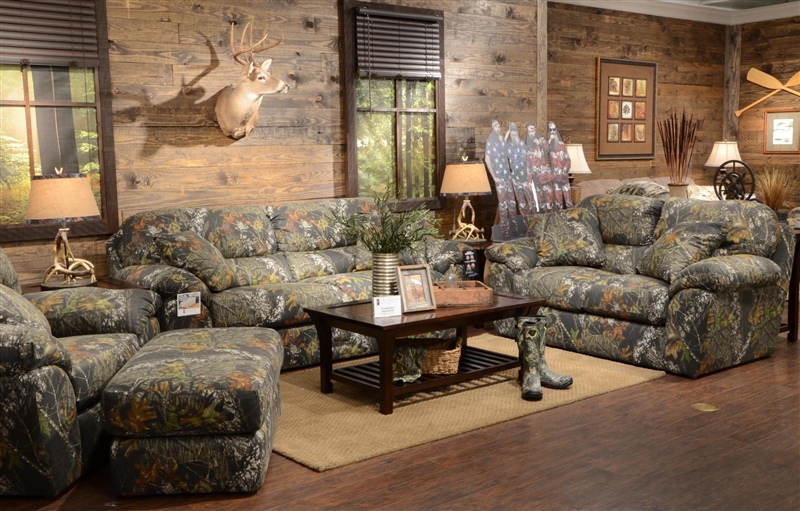 Cumberland Sofa in Mossy Oak or Realtree Camouflage Fabric by - camo living room furniture