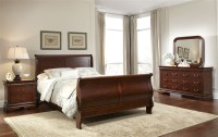 Carriage Court Sleigh Bed 6 Piece Bedroom Set in Mahogany ...