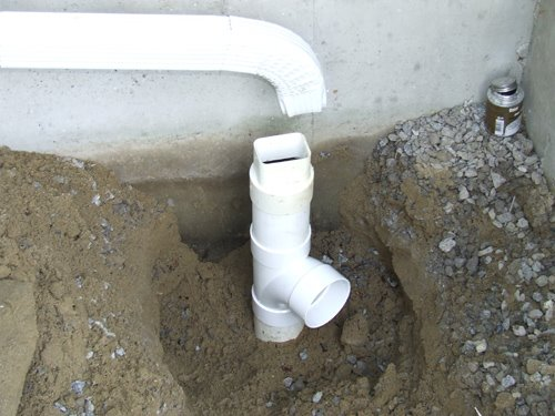 Connecting A Gutter Downspout to Foundation Drain