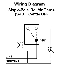 single throw switch wiring diagram