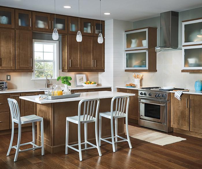 Transitional Kitchen Design - Homecrest Cabinetry - transitional kitchen design