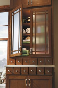 Shaker Mullion Cabinet Door with Frost Glass - Homecrest