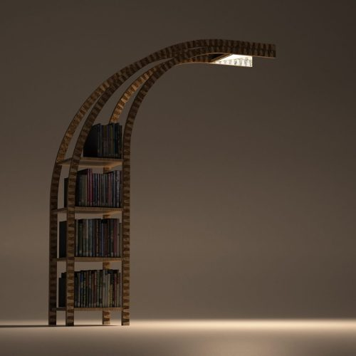 Medium Of Fire Escape Bookshelf