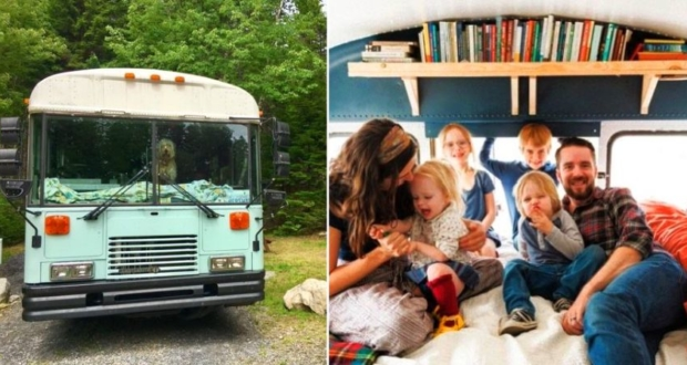 A Family Of Six Travels Full Time In Their Converted Bus Home