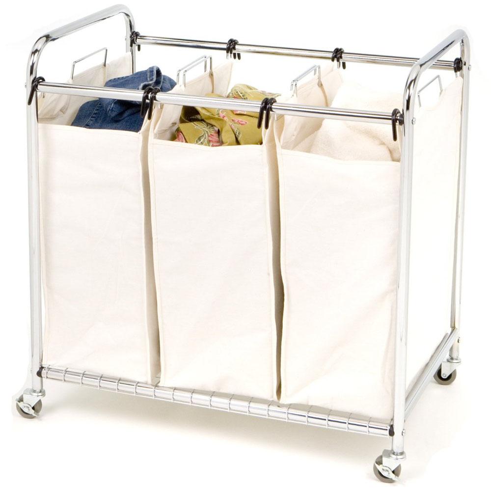 Fullsize Of Rolling Laundry Basket