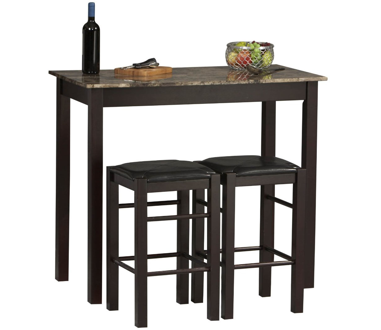 counter height kitchen tables bar top kitchen tables Rectangular Bar Table Set with Stools