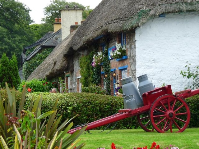 Irish Thatched Roof Cottages