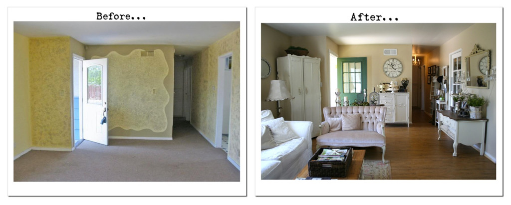 Living Room Renovation Before And After room remodels