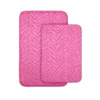 Garland Rug Zebra Pink 20 in x 30 in. Washable Bathroom 2 ...