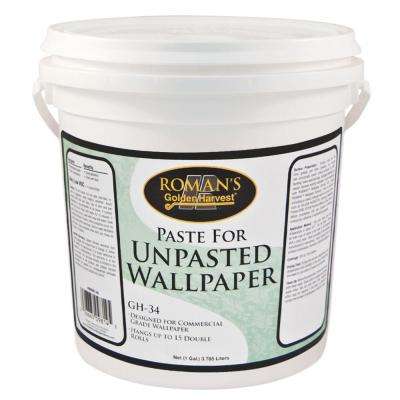 Golden Harvest GH-34 1 gal. Paste for Unpasted Wallpaper-209814 - The Home Depot