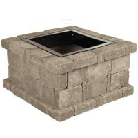 Pavestone 45.8 in. x 10.5 in. RumbleStone Round Fire Pit ...
