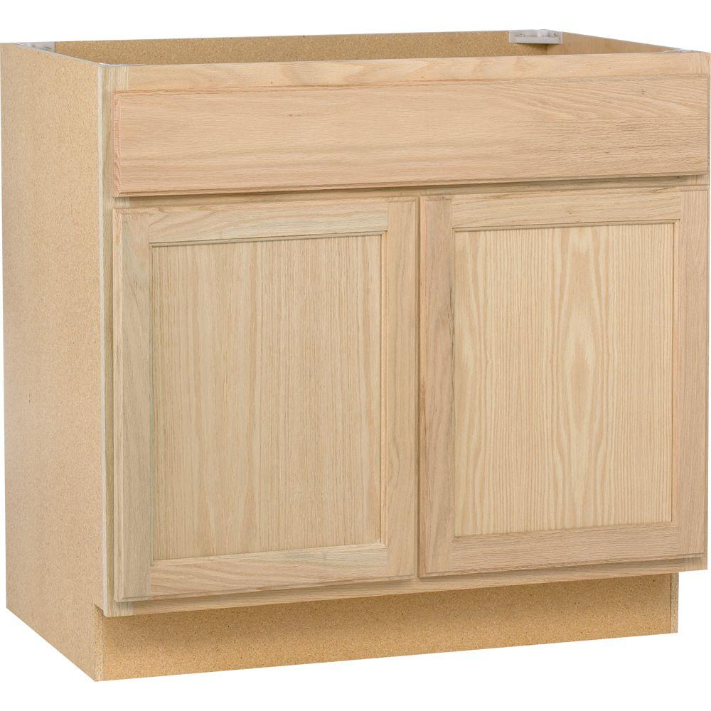 assembled kitchen cabinets Assembled in Wall Kitchen Cabinet in Unfinished Oak WOHD The Home Depot