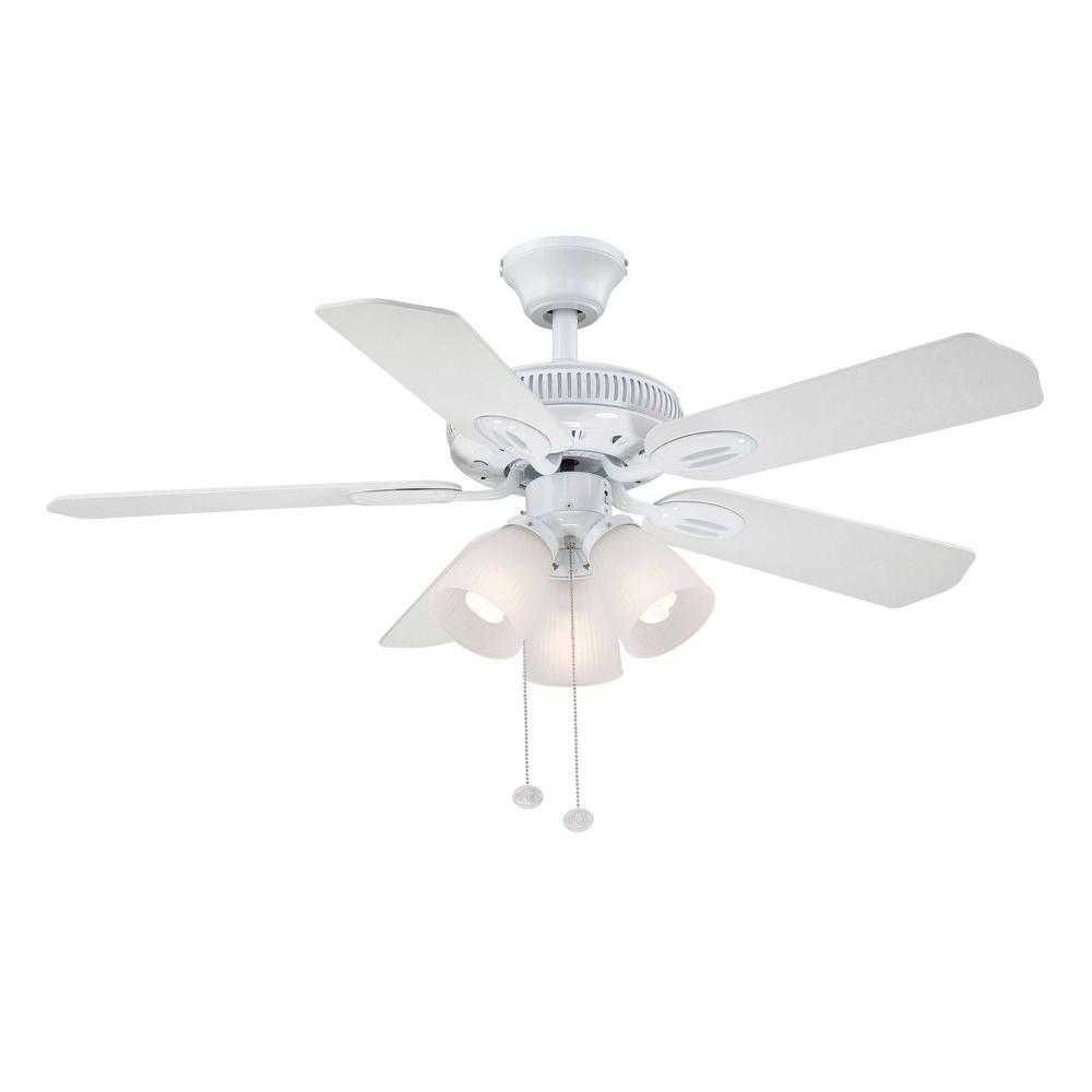 Hampton Bay Glendale 42 in. White Ceiling Fan