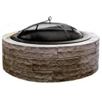 Four Seasons Lightweight 42 in. Wood Burning Concrete Fire ...