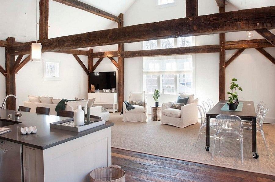 minimalist living room decor - rustic room in white - Homedizz - rustic living room decor