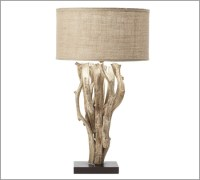 Driftwood Table Lamp from Pottery Barn | Modern Home Decor
