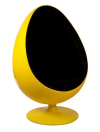 Yellow and Black Egg Chair Reproduction by Home Elements