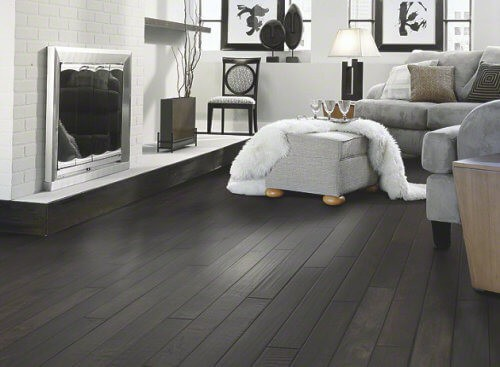 Black Wood Planks ~ Dark hardwood floors can you make them work