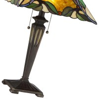 Persian Violet Tiffany Table Lamp - Home Furnishers