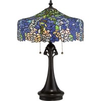 Cobalt Blue Wisteria Tiffany lamp - Home Furnishers