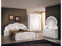 Italian white high gloss bedroom furniture set - Homegenies