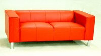 Two Seater Faux Leather Sofa - Homegenies