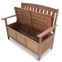 Wooden Garden Storage Bench - Homegenies