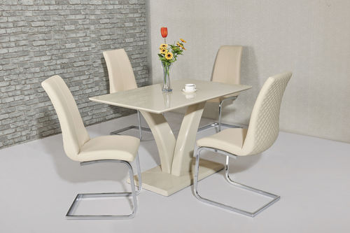 High Gloss Dining Table And Chairs Sets Homegenies