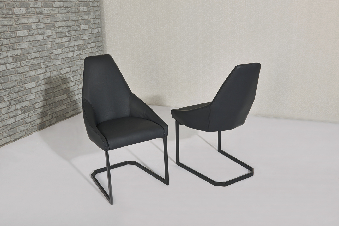 Matt Black Glass Dining Table And 8 Black Chairs Homegenies