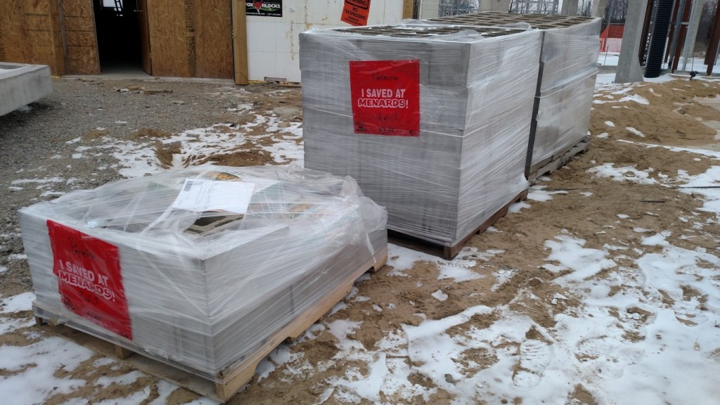 Get your blocks delivered.  They are heavy and delivery is cheaper than all the trips it would take to carry these safely in my pickup truck.