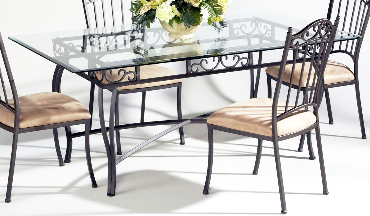 rectangular glass top dining table glass kitchen table Buy Global USA DT Rectangular Glass Top Dining Table
