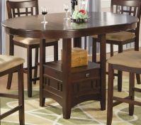 Coaster Lavon Round Counter Height Dining Set - Cherry ...