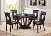 Coaster Stapleton Round Glass Dining Set - Cappuccino ...