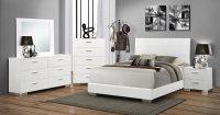 Coaster Felicity Bedroom Set - White 203501-Bed-Set at ...