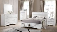 Coaster Miranda Storage Platform Bedroom Set - White ...