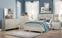Coaster Lana Upholstered Bedroom Set - Silver 205181 ...
